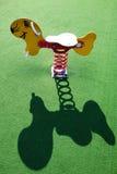 Rocking Toy at Playground. Children rocking playground toy groundhog with neat shadow Stock Image