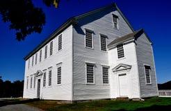 Rockingham, VT: Iglesia de 1787 de la casa de reunión Foto de archivo