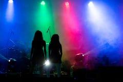 Rockkonzert Stockbild