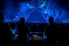 Rockkonzert mit leerem Stadium Lizenzfreies Stockbild