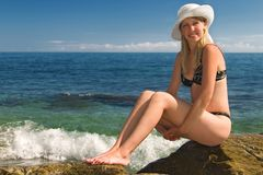 rockkvinna Royaltyfria Bilder