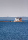 Rockland Breakwater Lighthouse. In Rockland, Maine Royalty Free Stock Photo