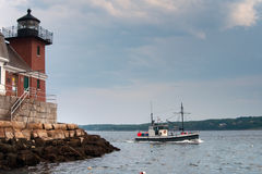 Rockland Breakwater Lighthouse in Maine Stock Images