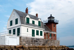 Rockland Breakwater Lighthouse in Maine Stock Photography