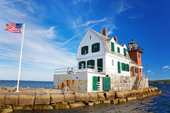 The Rockland Breakwater Lighthouse Royalty Free Stock Photo