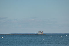 The Rockland Breakwater Lighthouse on a winter day Royalty Free Stock Photos