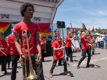 Rockland County Pride 2015 - Marching Band Royalty Free Stock Photo