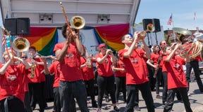 Rockland County stolthet 2015 - marschmusikband Arkivfoto