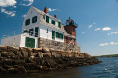 Rockland Harbor Breakwater Light Stock Image