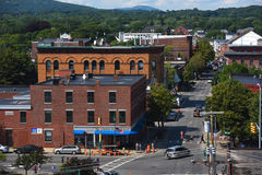 Rockland Historic downtown, Rockland, Maine Stock Photo