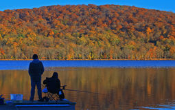 Rockland Lake Fishing Royalty Free Stock Images