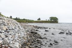 Rockland, Maine coastline near oceanside golf course royalty free stock photos