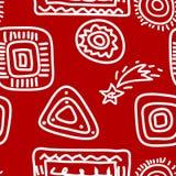 Rockmålningar som är vita på Red Royaltyfria Foton