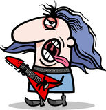 Rockman musician cartoon illustration Royalty Free Stock Photography
