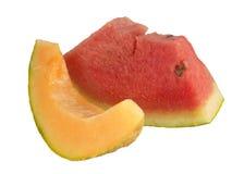rockmelon плодоовощ органическое отрезает арбуз Стоковые Изображения RF
