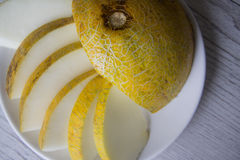 Rockmelon with copy space Stock Photography