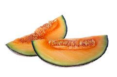 Rockmelon ou qaurter de cantaloup Photo libre de droits