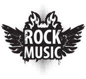 Rockmusik im Feuer stock abbildung