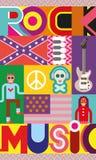 Rockmusik-Plakat Stockbilder