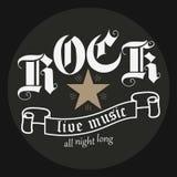 Rockmusikdruck Lizenzfreie Stockfotografie