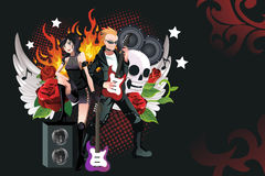 Rockmusikhintergrund Stockfotos