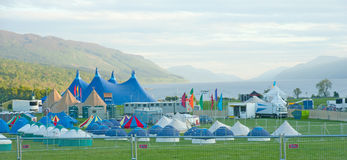 Rockness venue at Lochness Stock Photo