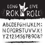 Rocknroll字母表字体 库存图片