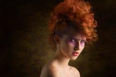 Rockowa agresywna piękno kobieta Obrazy Stock