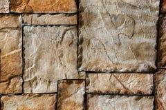 Rockowa ścienna tekstura Obraz Royalty Free