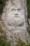 rockowa decebalus statua Obraz Royalty Free