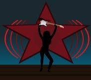 Rockowa dziewczyna z gitarą Zdjęcie Royalty Free