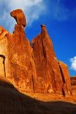 Rockowa formacja, łuki parki narodowi, Utah obraz royalty free