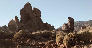 Rockowa formacja blisko Teide wulkanu w Tenerife zdjęcie wideo