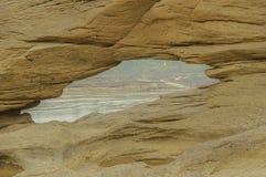 Rockowa formacja na brzeg rzeki Zdjęcie Royalty Free
