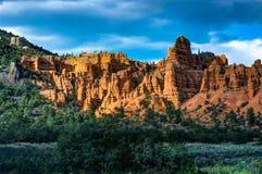 Rockowa formacja przy Bryka jarem w Utah Stany Zjednoczone Ameryka Obraz Royalty Free