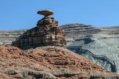 Rockowa formacja Przy Meksykańskim kapeluszem, Utah Fotografia Stock