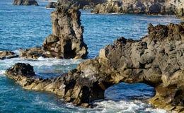 Rockowa formacja w las palmas Fotografia Royalty Free