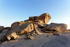 Rockowa formacja w Namib pustyni w zmierzchu, krajobraz Obrazy Royalty Free