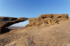 Rockowa formacja w Namib pustyni w zmierzchu, krajobraz Obraz Stock