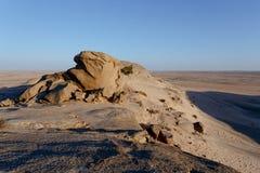 Rockowa formacja w Namib pustyni w zmierzchu, krajobraz Fotografia Stock