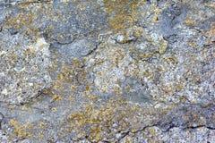 Rockowa kamienna tekstura, tła zbliżenie, ściana Fotografia Royalty Free