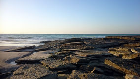 Rockowa kanapka na piaskach kabel plaża Zdjęcia Royalty Free