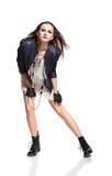 Rockowa kobieta Obrazy Royalty Free