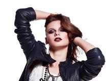 Rockowa kobieta obrazy stock