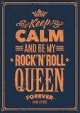 Rockowa królowej typografia royalty ilustracja
