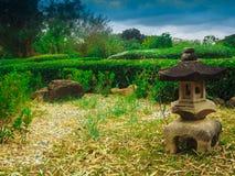 Rockowa lampa w ogródzie Zdjęcie Stock