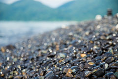 Rockowa plaża Zdjęcia Stock