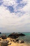 Rockowa plaża Fotografia Stock