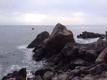 Rockowa plaża Zdjęcie Royalty Free