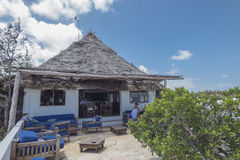 Rockowa restauracja, Zanzibar, Tanzania zdjęcia royalty free